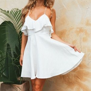 Hello Molly On The Run Again dress in white
